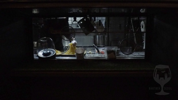 The kitchen has a window to the yard.