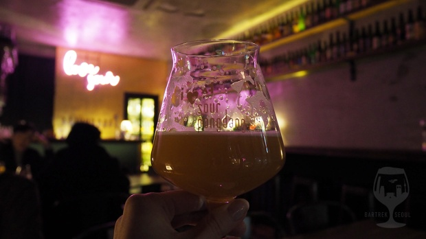 Moody picture of a glass of craft beer