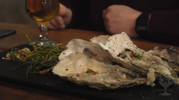 Delicious looking oyster dish.