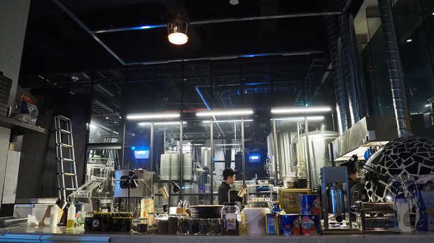 Craft beer brewing facility.