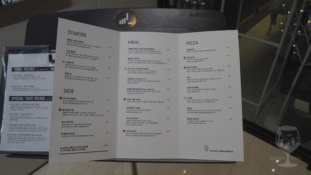 Picture of the food menu.