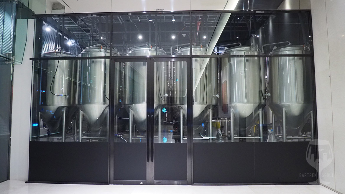 Craft brewery facilities.