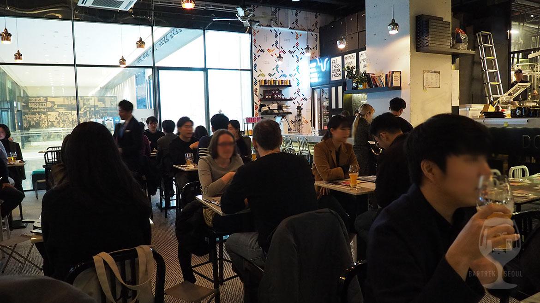 People drinking Mystelee korean craft beer.